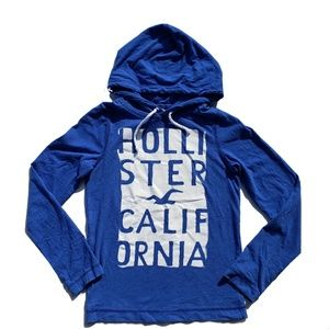 Hollister Shirt Size Small Blue Long Sleeve Hoodie